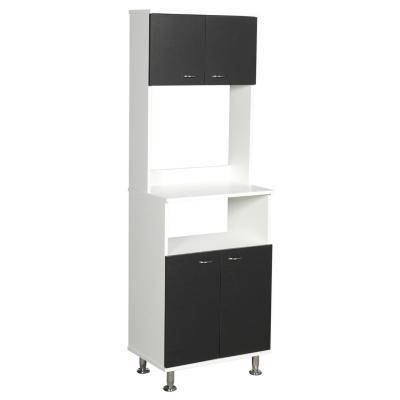 Mueble cocina 4 puertas 3 repisas 54X35X160 cm blanco&wengue