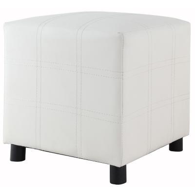Pouf 35x35x35 cm blanco