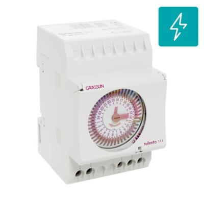 Timer analógico riel DIN 3520 W manual mecánico