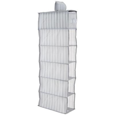 Clóset organizador 6 compartimientos 84x30x15 cm gris