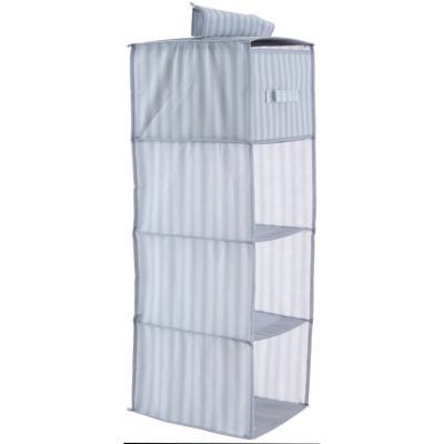 Clóset organizador 4 compartimientos 84x30x30 cm gris
