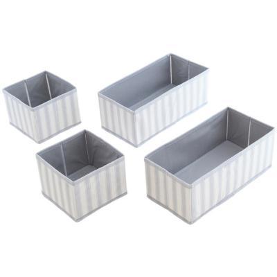 Set de cajas 4 unidades gris