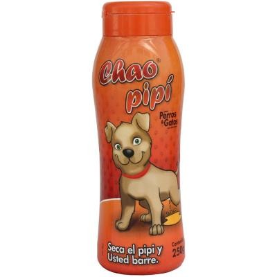 Talco absorbente de orina para mascotas 250 gr