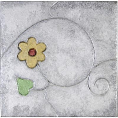 Pastelón jardín flor amarillo