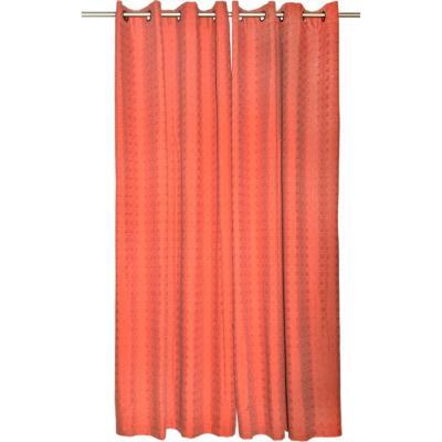 Set de cortinas tela 140x220cm Poicas terracota