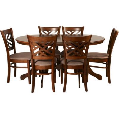 Juego de comedor 6 sillas 150x90 Café