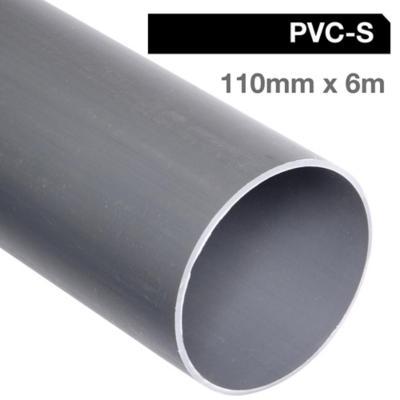 Tubo PVC-S 110mm x 6m  Gris Cementar