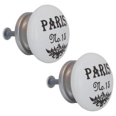 Set de perillas París porcelana 40 mm 2 unidades