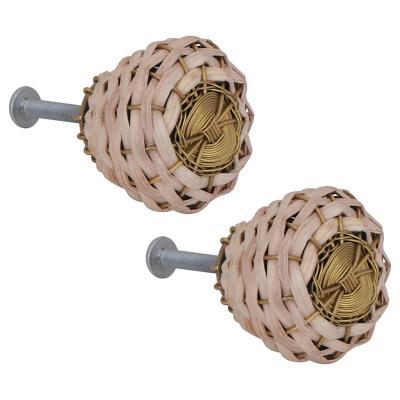 Set de perillas 36 mm 2 unidades Bambú
