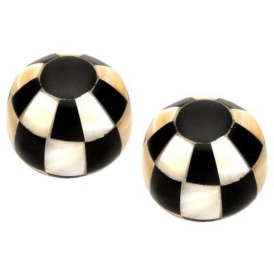 Set de perillas madre perla 35 mm 2 unidades