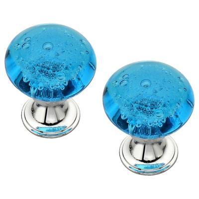 Set de perillas cristal burbujas 2 unidades