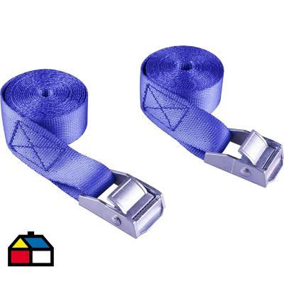 Set de cintas para tiro 300 kg 2 m 2 unidades azul