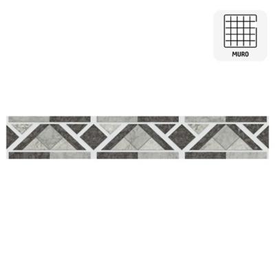 Listel Modena gris 5,7x35 cm