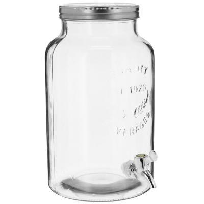 Dispensador de agua vidrio 5,5 litros transparente