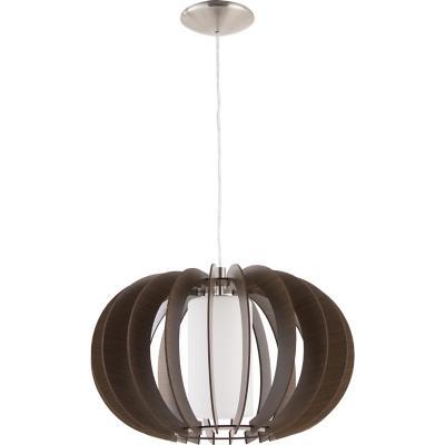 Lámpara de colgar Acero y cristal satinado Stellato 3 Café
