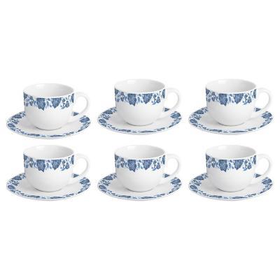 Juego de té porcelana 12 piezas