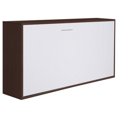 Cama abatible 213x40x97 cm moro y blanco