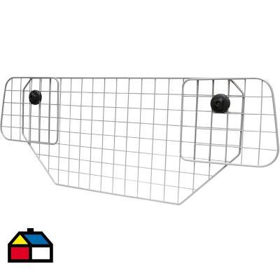 Separador de mascotas para auto 42,5x92x6 cm acero gris