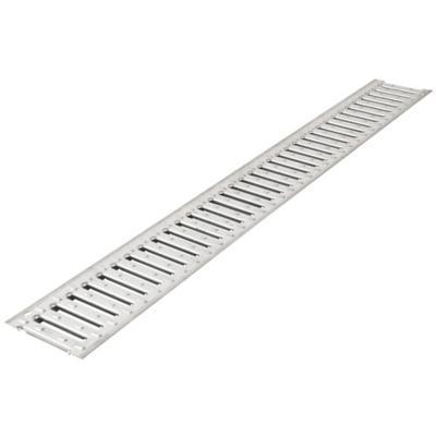 Rejilla peatonal acero galvanizado 13x2x100 cm