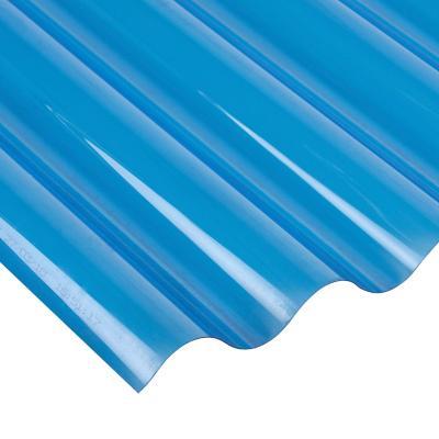 0.5mmx0.81mx3.00m Policarbonato Ondulado / Azul