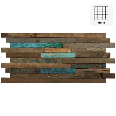 Malla 30x60 cm madera bote cobalto/natural