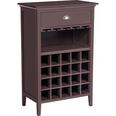 Gabinete vino rack vidrio 66,5x39x103 cm