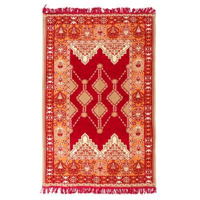 Alfombra oriental 125x185 cm  rojo/naranjo
