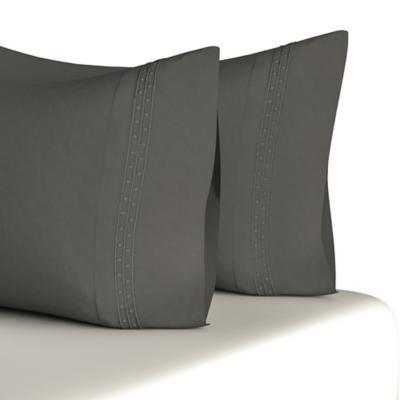 Set de 2 fundas gris 50x75 cm