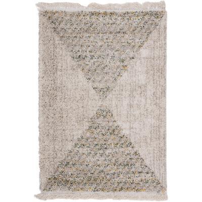 Alfombra triangulos 120x170 cm beige