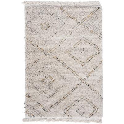 Alfombra formas beige 120x170 cm beige