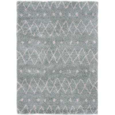 Alfombra líneas 120x170 cm gris