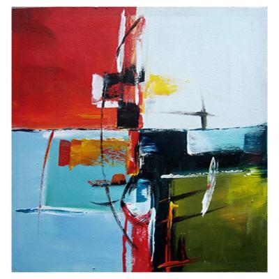 Oleo abstracto 80x80 cm