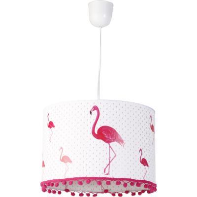 Lámpara de colgar Flamenco Pompones E27