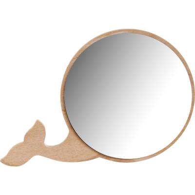 Espejo Ballena madera terciada