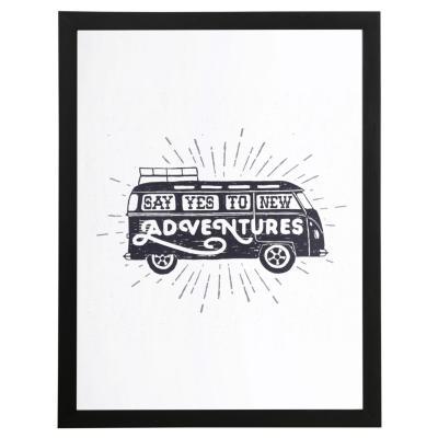 Cuadro Enmarcado Adventures 40x30 cm