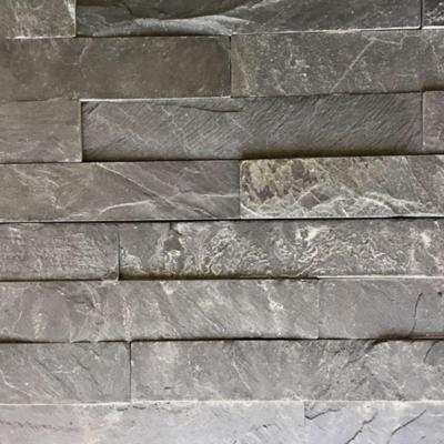 Piedra pizarra negra 15x60 cm 0,72 m2