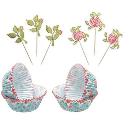 Set moldes de papel + adornos flores 48 uds. sweetly does it