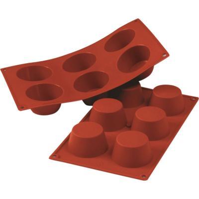 Molde silicona 6 muffins