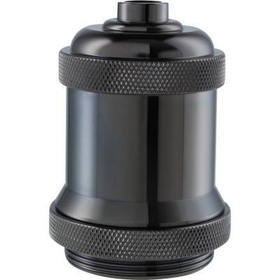 Lámpara de colgar Metal Soquete Industrial Negro