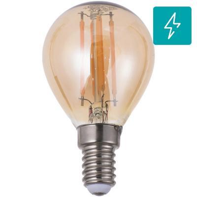 Ampolleta LED filamentos E14 4W luz cálida