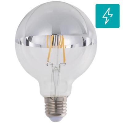 Ampolleta LED filamentos 6 W G95 E27 plata