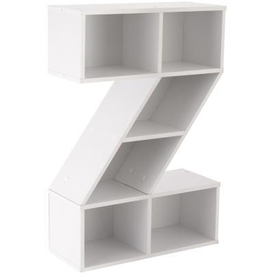 librero letra z 60x24x90 blanco