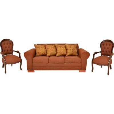 Juego de living sofá 3 cuerpos + 2 sitiales terracota