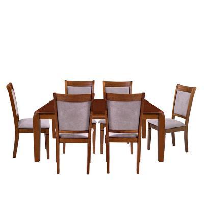 Juego de comedor 6 sillas Café/Gris