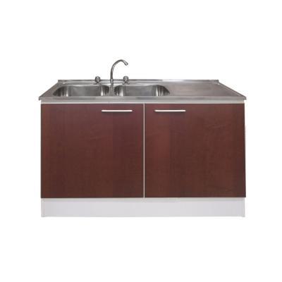 Kit mueble para lavaplatos 118x80x48,5 cm Chocolate