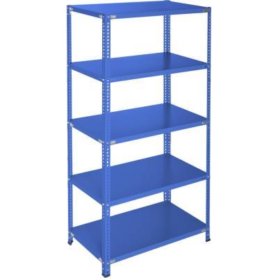 Estantería azul 5 bandejas  90x50x200 cm