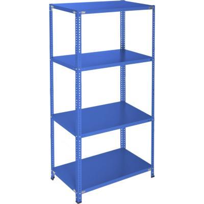 Estantería azul 4 bandejas 90x50x200 cm