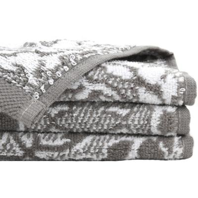 Toalla baño mira gris/bl80x140