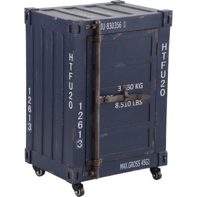 """Mueble """"container""""  azul 1 puerta"""
