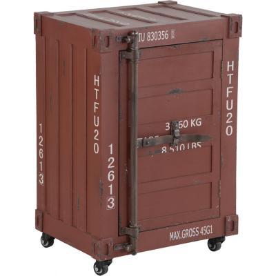 """Mueble """"container""""  rojo 1 puerta"""
